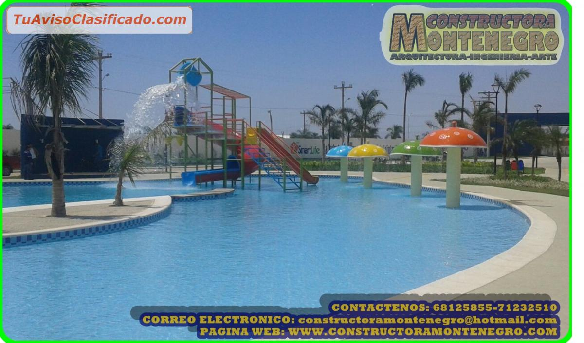 Dise o y construcci n de piscinas playas piscinas tipo - Piscina tipo playa ...