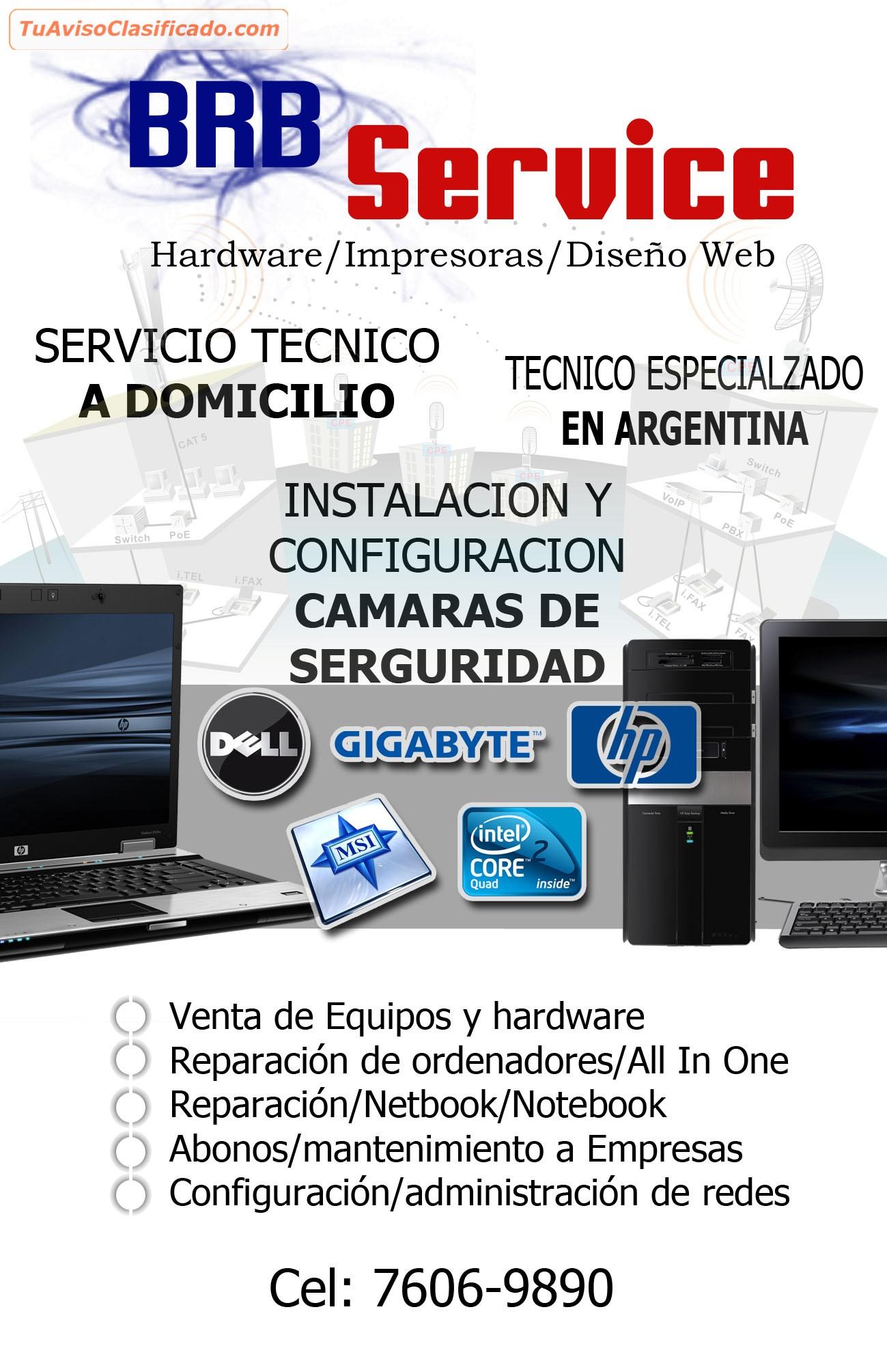 servicio tecnico y reparacion a domicilio de computadoras