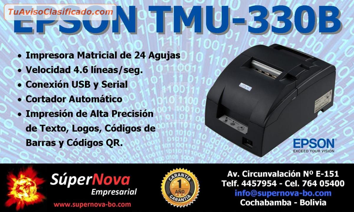 Epson Tmu 330b Computaci 243 N E Inform 225 Tica Gt Impresoras Y