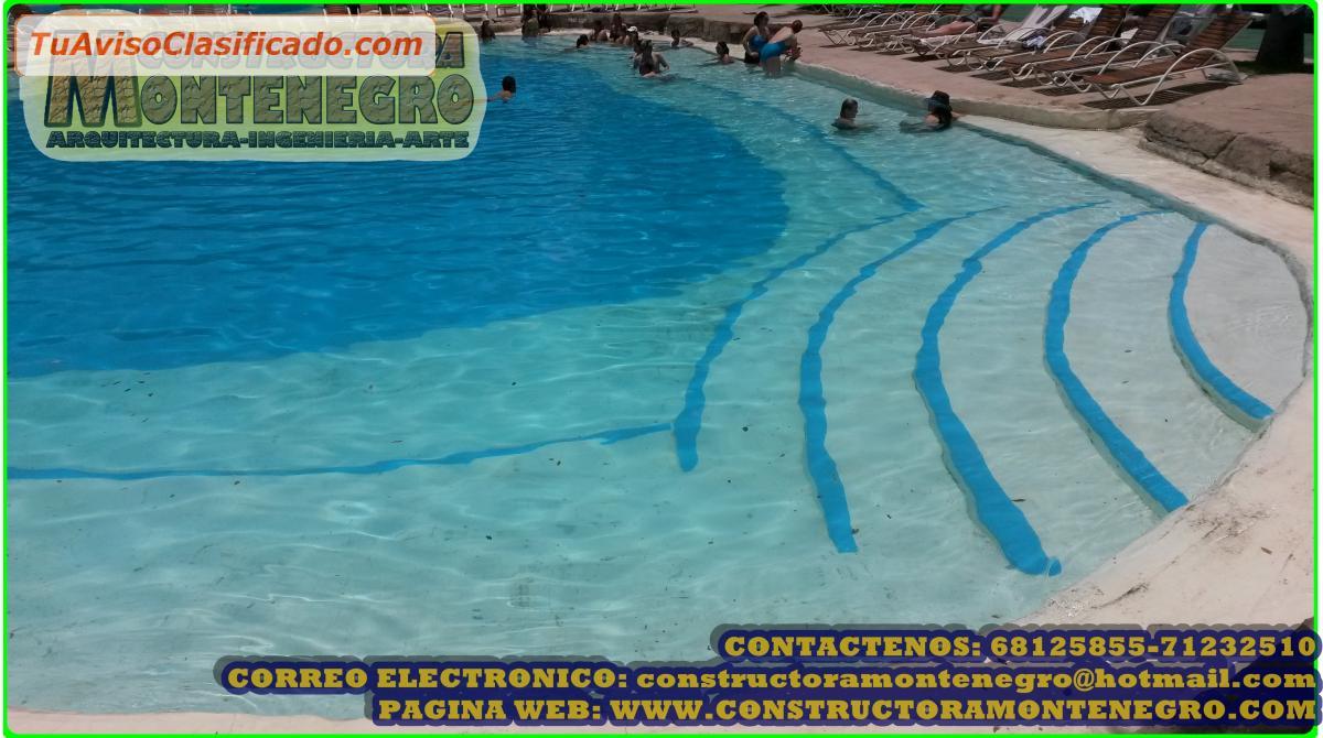 Dise o y construcci n de piscinas playas piscinas tipo for Construccion de piscinas en mexico