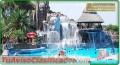 Diseño de parques aquaticos con piscinas tipo playa