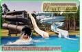 Parques acuáticos con cascadas decorativas