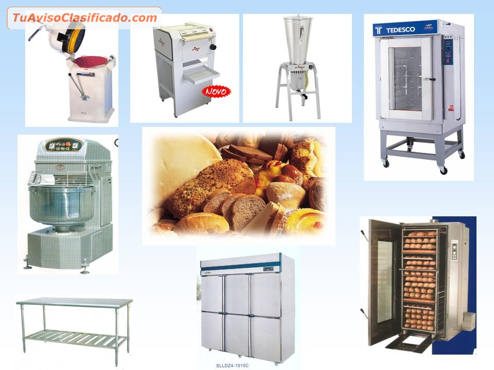 Equipos y maquinarias para panaderia mobiliario y for Mobiliario y equipo de cocina